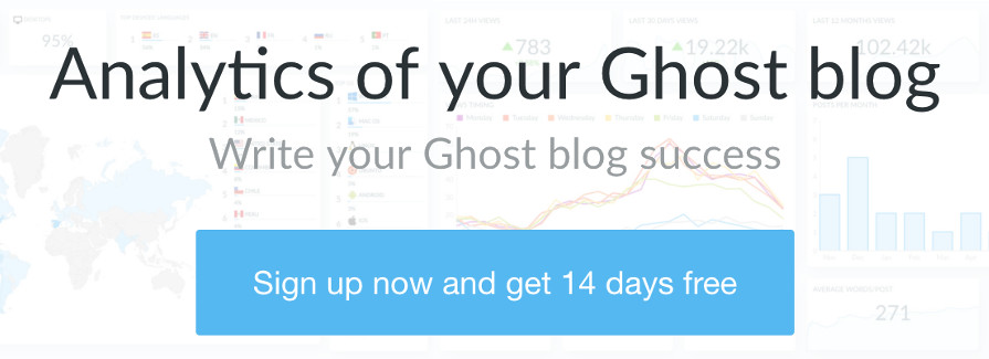 Ghostboard - Analytics of your Ghost blog, sign up now and get 14 days free