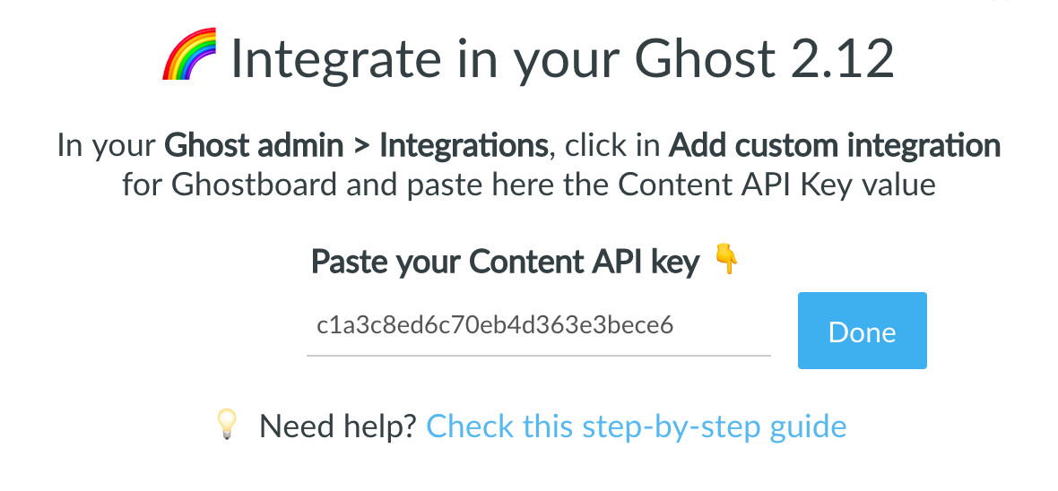 Ghostboard integate with Ghost Content API
