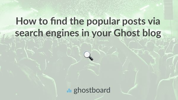 How to find the popular posts via search engines in your Ghost blog