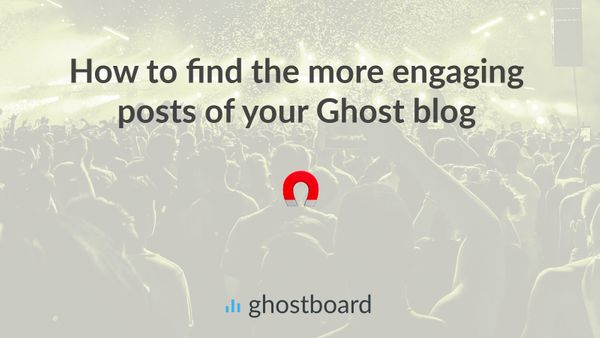 How to find the more engaging posts in your Ghost blog