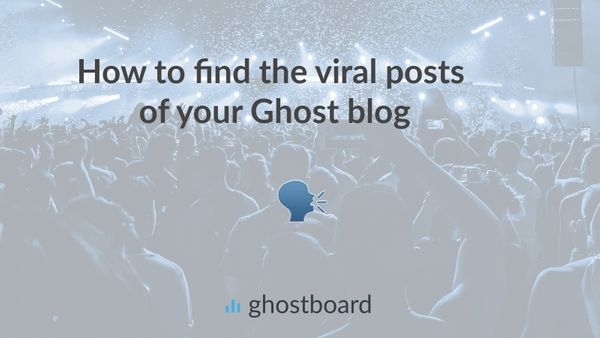 How to find the viral posts in your Ghost blog