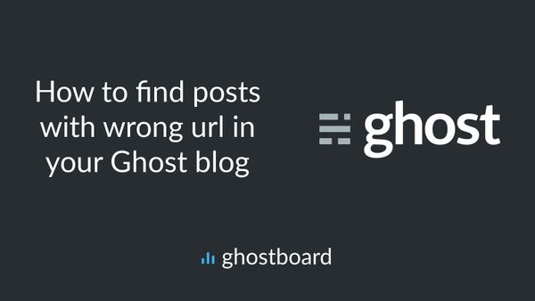 How to find posts with wrong url in your Ghost blog